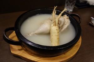 大阪市 韓国料理 ほうば 参鶏湯
