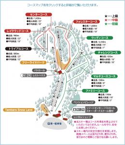たんばらスキーパークコースマップ