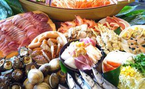 海鮮浜焼き食べ放題 市場食堂 海女小屋